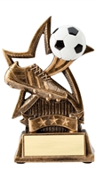 Star Soccer Trophy<BR> 6 Inches