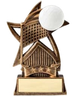 Star Volleyball Trophy<BR> 6 Inches