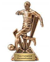 Checkmate<BR> Male Soccer Trophy<BR> 6.5 Inches