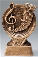 Saturn Music Trophy<BR> 6 Inches
