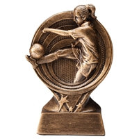 Saturn Female Soccer Trophy<BR> 6 Inches