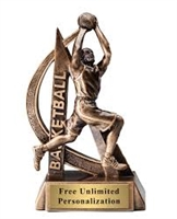 Male Basketball Trophy<BR> 6.5 Inches
