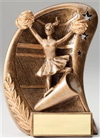 Curve Cheerleading Trophy<BR> 5.5 Inches