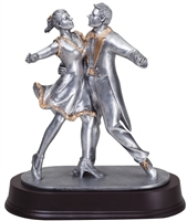 Silver Premium<BR> Dance Couple Trophy<BR> 9 Inches