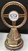 Steering Wheel Trophy<BR> Your Custom Logo<BR> 10.5 Inches