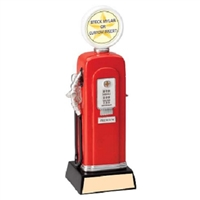 Gas Pump Trophy<BR> Your Custom Logo<BR> 10 Inches