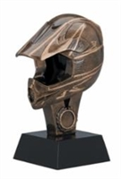 Premium<BR>Motorcycle Helmet Trophy<BR> 6.25 & 8.75 Inches
