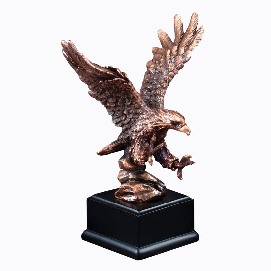 Landing Bronze<BR> Eagle Trophy<BR> 8 Inches