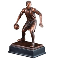 Bronze Gallery<BR> Basketball Trophy<BR> 15 Inches