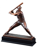 Bronze Gallery<BR> Baseball Batter Trophy<BR> 15 Inches