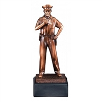 Bronze Gallery<BR> Policeman Trophy<BR> 12 Inches