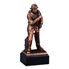 Bronze Gallery<BR> Fireman Trophy<BR> 12 Inches
