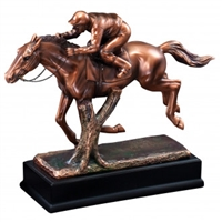 Bronze Gallery<BR> Horse Racing Trophy<BR> 12 Inches