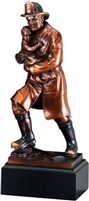 Bronze Gallery<BR> Fireman Rescue Trophy<BR> 13 Inches