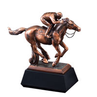 Bronze Gallery<BR> Horse Racing II Trophy<BR> 10 Inches
