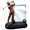 Premium Golfer<BR> 9 Inch Trophy<BR> With Glass