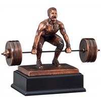 Bronze Gallery<BR> Male Deadlifter Trophy<BR> 10 Inches