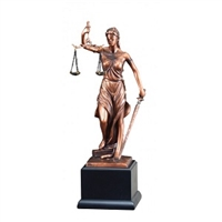 Bronze Gallery<BR> Lady Justice Trophy<BR> 13.5 Inches