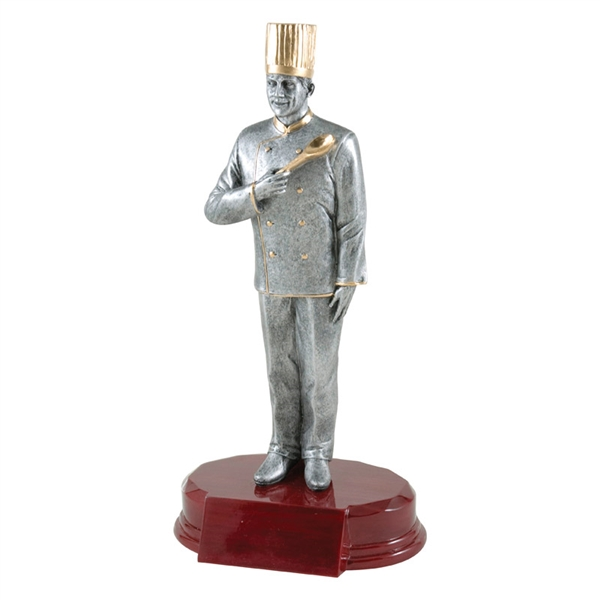 (M) Executive Chef Trophy<BR> 7.25 & 9.25 Inches