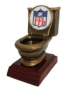 Toilet Bowl Trophy<BR> Fantasy Football<BR> Logo #2
