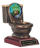 Toilet Bowl Trophy<BR> Fantasy Football<BR> Logo #1