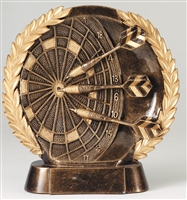 Resin High Relief<BR> Darts Trophy<BR> 7.5 Inches