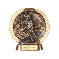 Resin High Relief<BR> Fireman Trophy<BR> 7.5 Inches