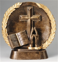 Resin High Relief<BR> Religion Trophy<BR> 7.5 Inches