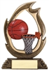 Flame<BR> Basketball Trophy<BR> 7.25 Inches