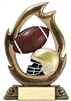 Flame<BR> Football Trophy<BR> 7.25 Inches