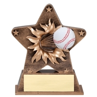 Starburst Baseball Trophy<BR> 5.5 Inches
