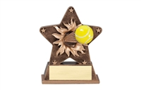 Starburst Tennis Trophy<BR> 5.5 Inches