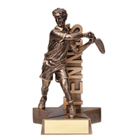 Billboard<BR> Male Tennis Trophy<BR> 6.5 & 8.5 Inches