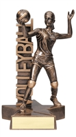 Billboard<BR> Female Volleyball Trophy<BR> 6.5 & 8.5 Inches