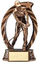 Running Star<BR> Male Golf Trophy<BR> 7.5 Inches