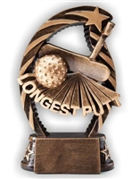 Running Star<BR> Longest Putt Trophy<BR> 7.5 Inches