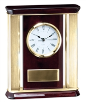 Gold Rosewood<BR> Chairman Clock<BR> 9 Inches