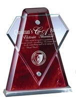 Rosewood Diamond<BR> Glass Trophy<BR> 9 Inches