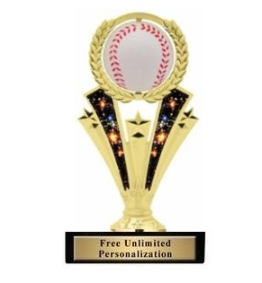 Spinner <BR> Baseball Trophy<BR> 7 Inches