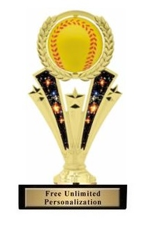 Spinner<BR> Softball Trophy<BR> 7 Inches