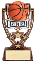 4 Star<BR> Basketball Trophy<BR> 6 Inches