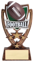 4 Star<BR> Football Trophy<BR> 6 Inches