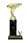 Single Column - 1 Trim<BR> Pinewood Derby #1 Trophy<BR> 10-12 Inches<BR> 10 Colors
