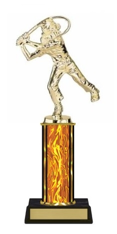Single Column<BR> M Comic Golfer Trophy<BR> 10-12 Inches<BR> 10 Colors