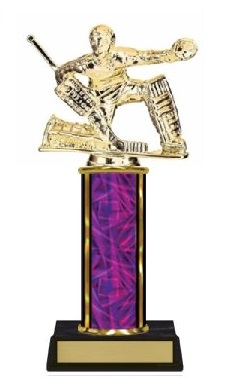 Single Column<BR> Ice Hockey GoalieTrophy<BR> 10-12 Inches<BR> 10 Colors