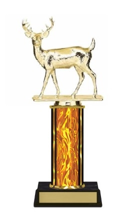 Single Column<BR> Buck Deer Trophy<BR> 10-12 Inches<BR> 10 Colors
