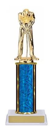Single Column<BR> M Putter Trophy<BR> 10-12 Inches<BR> 9 Colors
