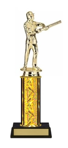 Single Column<BR> M Skeet Shooter Trophy<BR> 10-12 Inches<BR> 9 Colors