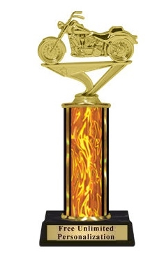 Single Column<BR> Soft Tail Motorcycle Trophy<BR> 10-12 Inches<BR> 9 Colors