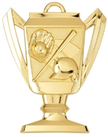 Trophy Baseball Medal<BR> Gold/Silver/Bronze<BR> 2.75 Inches